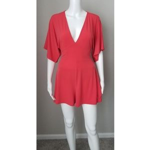 NWT EXPRESS Coral red romper